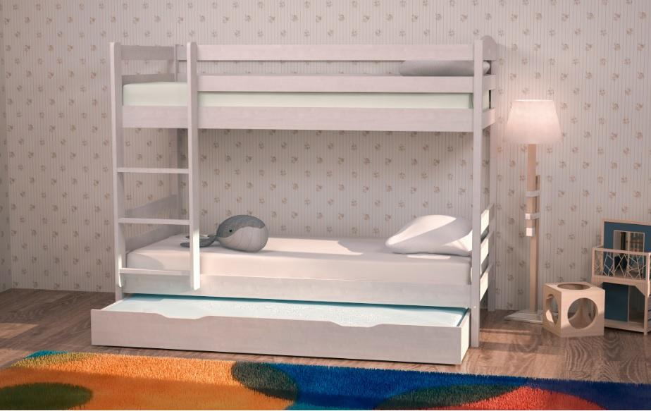 Кровать детская двухъярусная с ящиками (пр. БМ 07-09-00