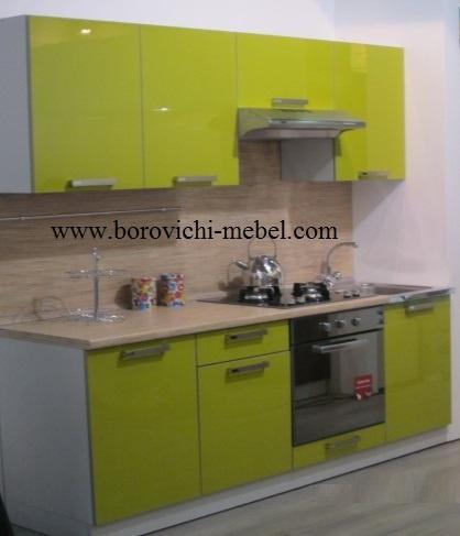 Кухня престиж симпл 2100 олива глянец