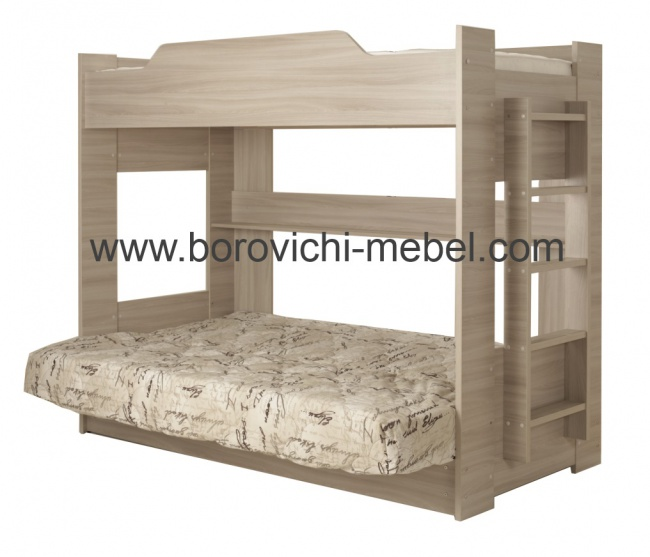 Кровать боровичи двухъярусная с диваном Москва